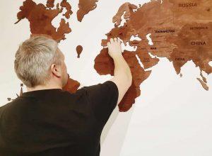 zemelapiai ant sienos, medinis žemėlapis, dekoracija ant sienos, pasaulio zemelapis.2