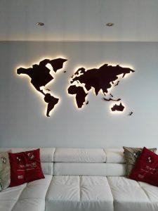 LED apšvietimas su šviesos reguliavimu