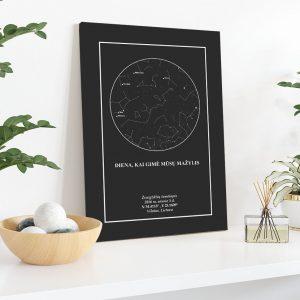 unikali dovana, žemėlapiai, zvaigzdziu zemelapiai, žvaigdžių žemėlapis, imprimera.shop, easy-print.lt, žemėlapis ant drobės, žvaigždės ant drobės, dangaus pasas2