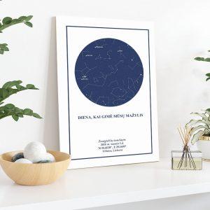unikali dovana, žemėlapiai, zvaigzdziu zemelapiai, žvaigdžių žemėlapis, imprimera.shop, easy-print.lt, žemėlapis ant drobės, žvaigždės ant drobės, dangaus pasas