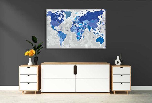 zemelapiai ant drobes, zemelapaiantdrobes, žemėlapis su smeigtukais, pasaulio žemėlapiai ant sienos2