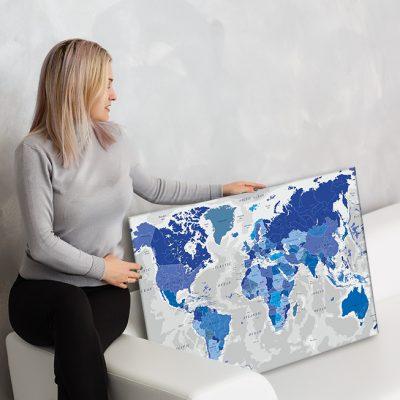 zemelapiai ant drobes, zemelapaiantdrobes, žemėlapis su smeigtukais, pasaulio žemėlapiai ant sienos9