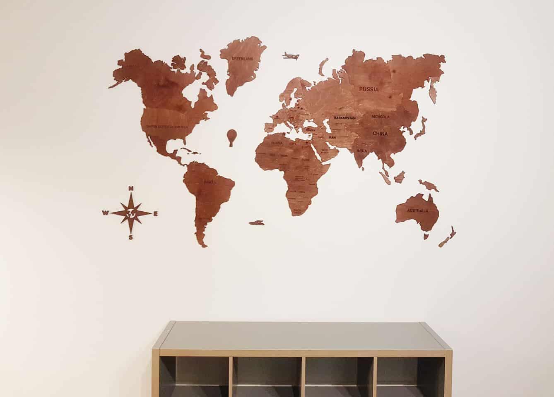zemelapiai ant sienos, medinis žemėlapis, dekoracija ant sienos, pasaulio zemelapis.
