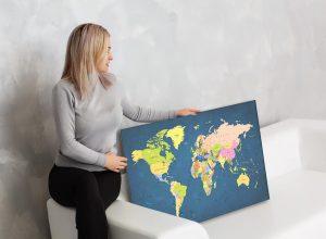 zemelapiai ant drobes, zemelapaiantdrobes, žemėlapis su smeigtukais, pasaulio žemėlapiai ant sienos8
