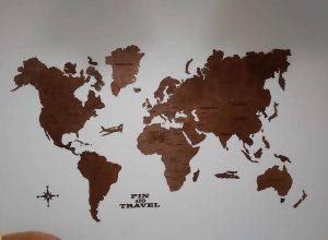 Medinis viso pasaulio žemynų žemėlapis